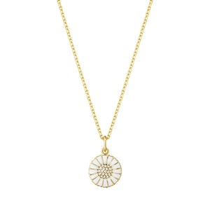 Georg Jensen Sterling Silver & 18kt Gold Small Daisy Pendant