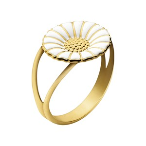 Georg Jensen Sterling Silver & 18kt Gold Daisy Ring Small