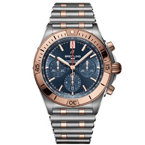 Breitling Chronomat B01 Steel & 18k Red Gold - Blue