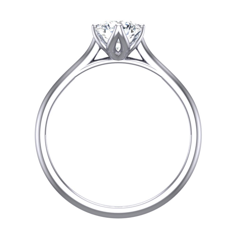 Beards Round Brilliant Cut Diamond Four Claw Platinum Engagement Ring