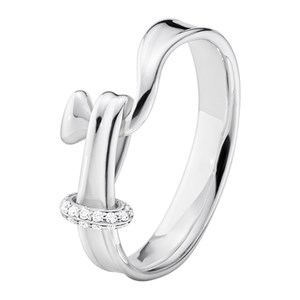 Georg Jensen Torun Silver & Diamond Ring