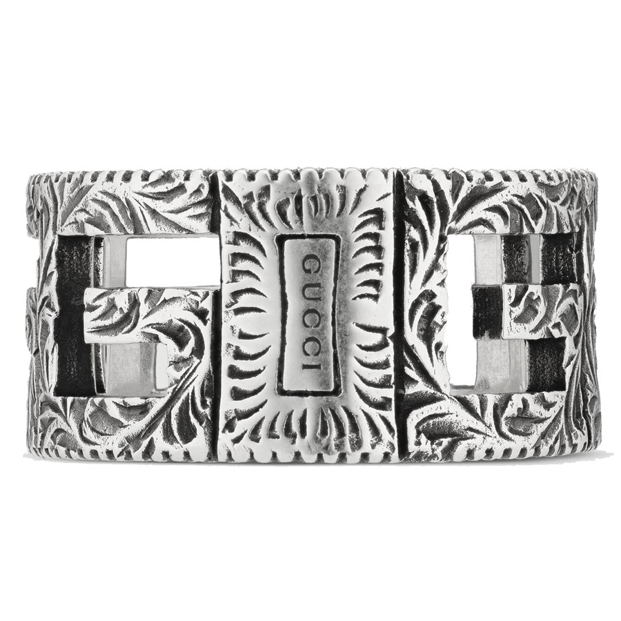 Gucci Square G Cube Silver Ring