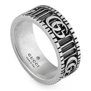 Gucci GG Marmont Double G Silver Ring