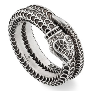 Gucci Garden Silver Snake Ring Size 18