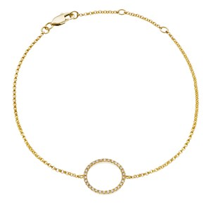Beards 18ct Yellow Gold and Diamond Circle Bracelet