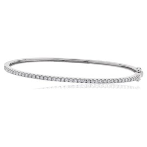 Beards 18ct White Gold & Diamond Bangle