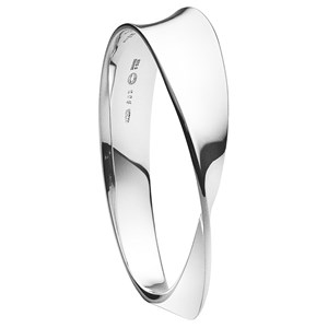 Georg Jensen Silver Möbius Bangle