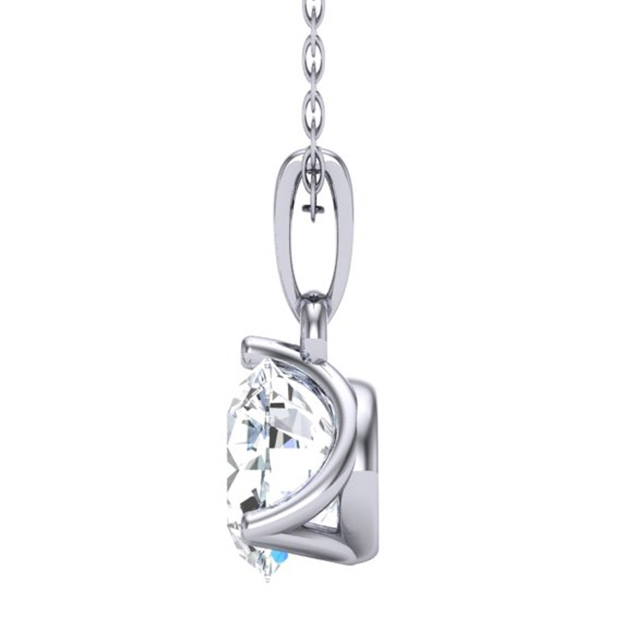 Beards 18ct White Gold & Diamond Pendant