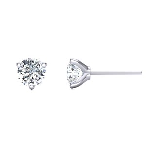Beards Three-Claw Diamond & Platinum Ear Stud