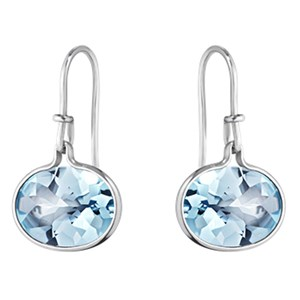 Georg Jensen Blue Topaz & Silver Savannah Earrings