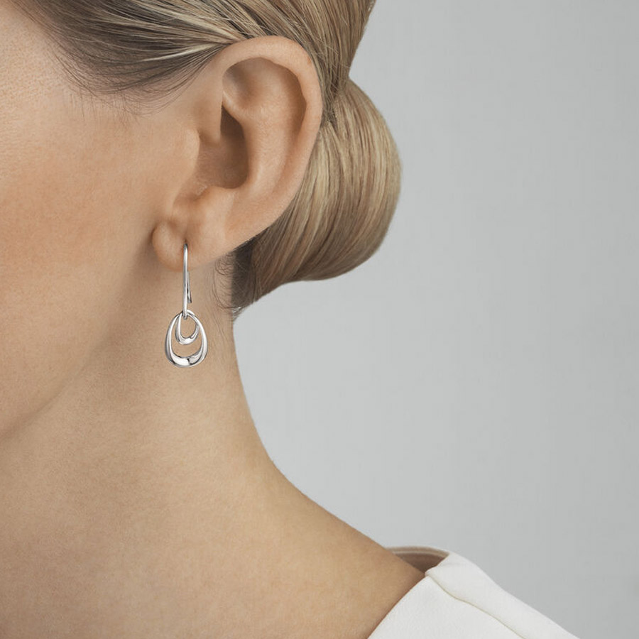 Georg Jensen Silver Offspring Earrings