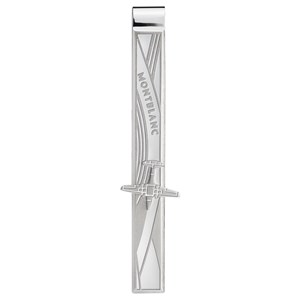 Montblanc Le Petit Prince Tie Bar in Stainless Steel with Aeroplane Engraving