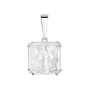Lalique Clear Crystal & Silver Arethuse Pendant