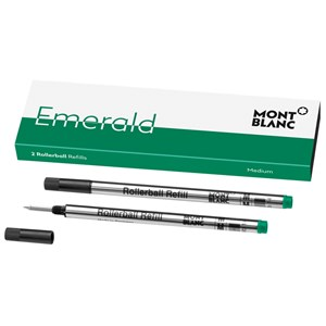 Montblanc Emerald Green Rollerball Refills (M) Pack of 2