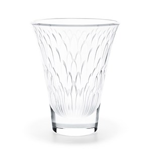 Lalique Flora Bella Clear Crystal Vase