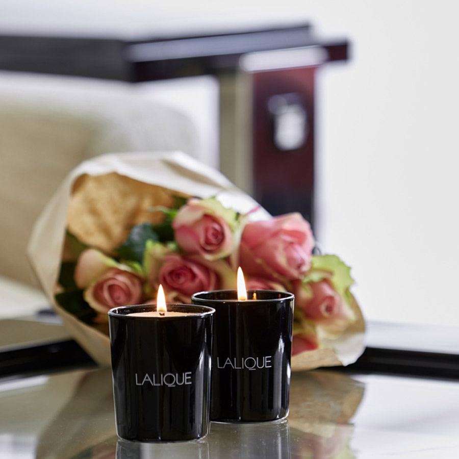 Lalique Peony Mount Olympus Greece Scented Candle