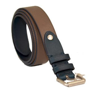 Dunhill Brown and Navy Leather Belt
