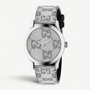 Ex-Display Gucci G-Timeless Stainless Steel & Leather Watch