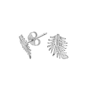 Dower & Hall Sterling Silver - Small Feather Studs