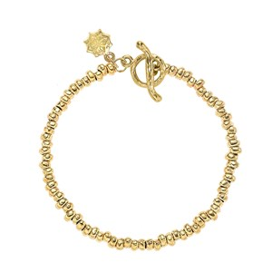 Dower & Hall Yellow Gold Vermeil - Small Nugget Pebble Bracelet