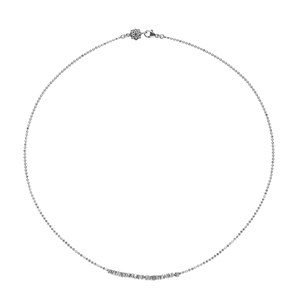 Dower & Hall Sterling Silver - Kubes Row Necklace