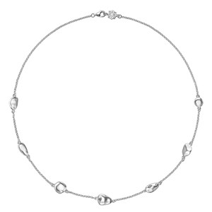 Dower & Hall Sterling Silver - 7 Mixed Pebble Chain Necklace