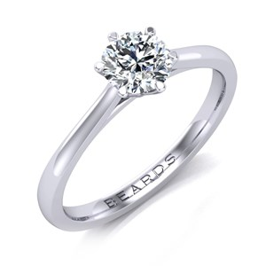 Beards Round Brilliant Cut Diamond Engagement Ring 0.50cts