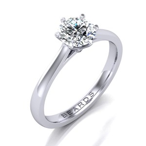 Beards Round Brilliant Cut Diamond Engagement Ring 0.80cts