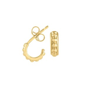 Dower & Hall 18ct Yellow Gold - Small Gold Granular Dotty Hoops