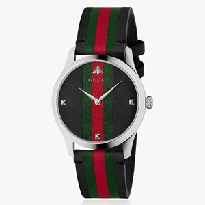 Gucci Unisex Timeless Leather Strap Watch YA1264079