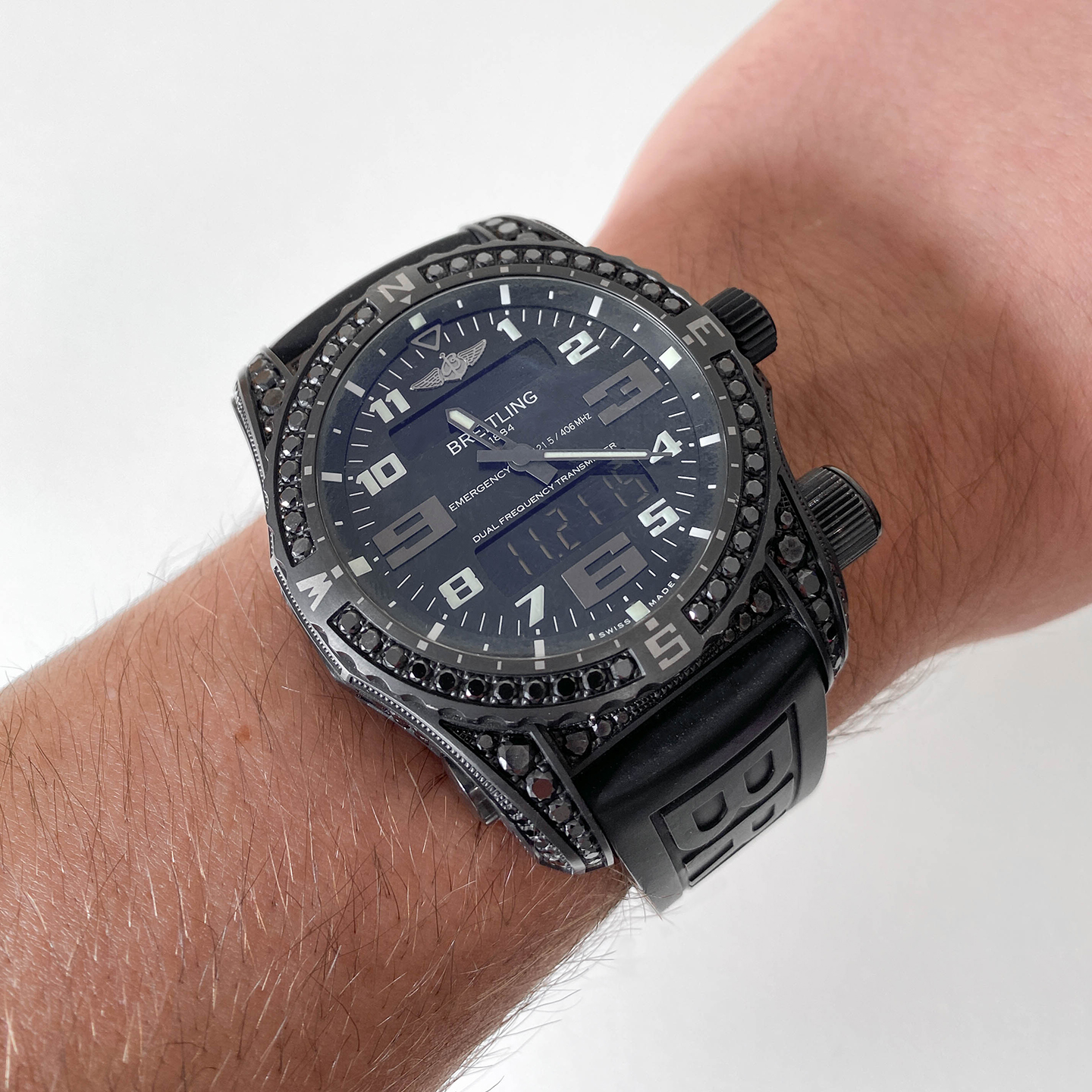 Pre-owned Breitling Emergency Night Mission Diamond Edition